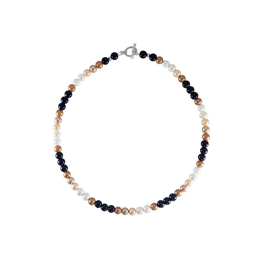 Shell Pearl Necklace Multicolour Fashion Jewellery Handmade