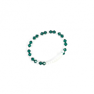 Bracelet, Oval, Green White