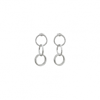 Fine Sterling Silver Earrings Hammered Studs Wire Handmade