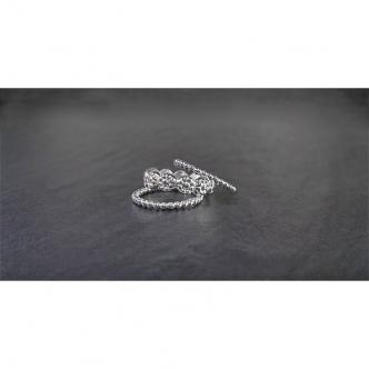 Sterling Silber 925 Ringset Blumen Dot Beaded Handgefertigt Handarbeit 3 Ringe Set