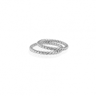 935 Sterling Silver Argentium® Silver Twisted Look Ring Wedding Rings Handmade