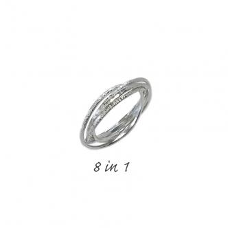 Argentium® Silber Ring 8 in 1