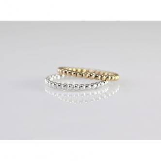 Ringset Set Kugelring Beaded Ring 925 Sterling Silber Gold Gefüllt (Gold Filled) Handarbeit Handgefertigt Geschmiedet