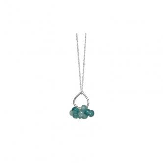 Feinsilber Sterling Silber 999 925 Tropfen Anhänger Kette Edelsteine Jade Grün Handgeschmiedet Handgefertigt