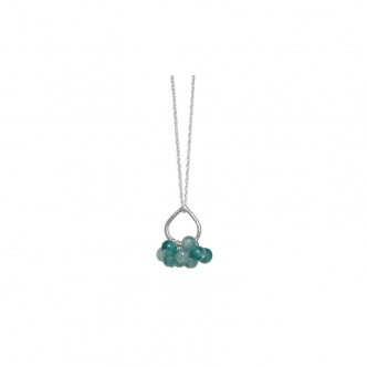 Fine Silver Sterling Teardrop Drop 999 925 Gemstones Jade Green Handmade Necklace Pendant