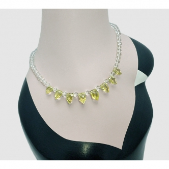 Lemon Quartz Gemstone Necklace Handmade