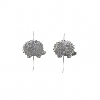 Hedgehog Earrings Sterling