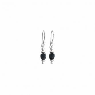 Spinell und Silber Ohrringe