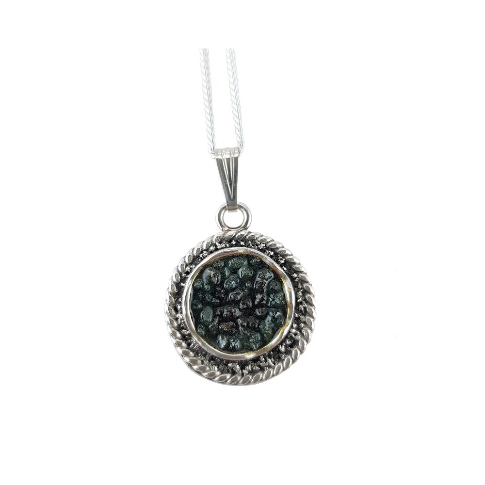 Sterling Silver 925 Diamonds Pendant Necklace Handmade
