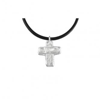 Sterling Silber 925 Massive Kreuz Handgearbeitet Geschmiedet Kette Anhänger