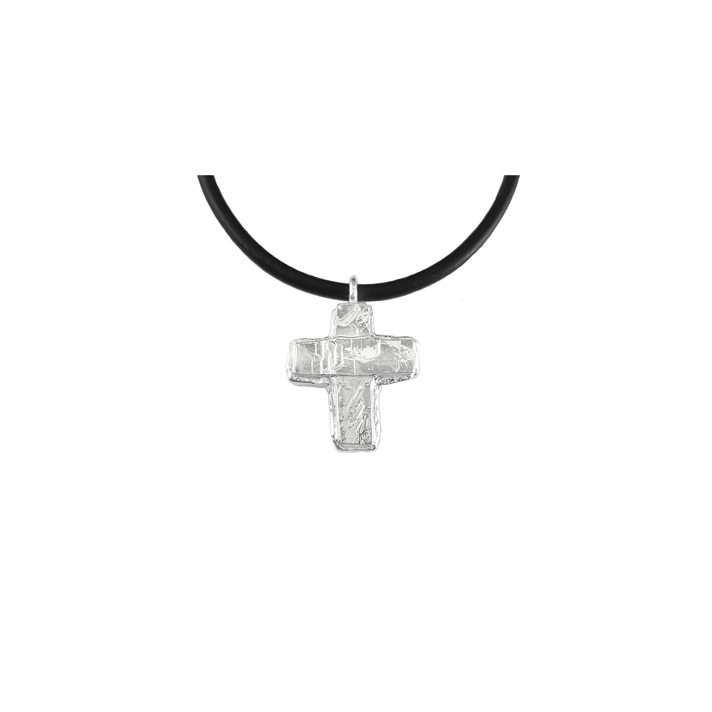 Sterling Silver Cross Solid Necklace Handmade 925