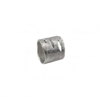 Handgefertigter Echt Silber Statement Ring Feinsilber 999 Breiter Ring
