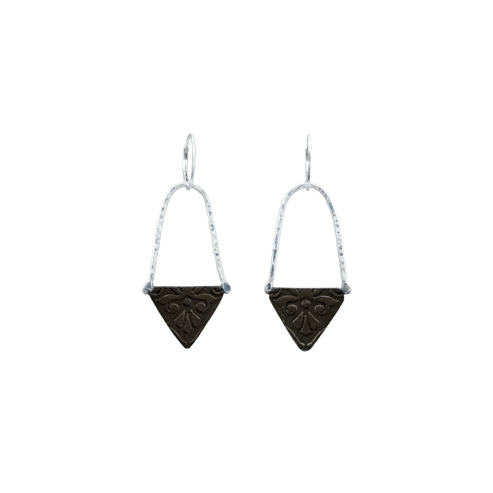 Earrings Sterling Silver Oxidised 925 935 Handmade Long