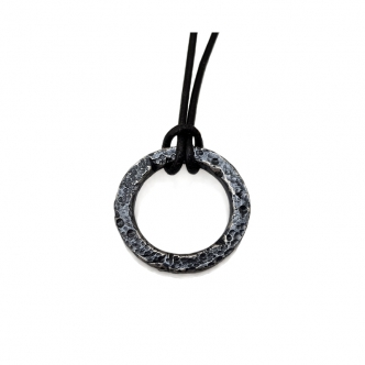 Used Look Solid Ring Pendant