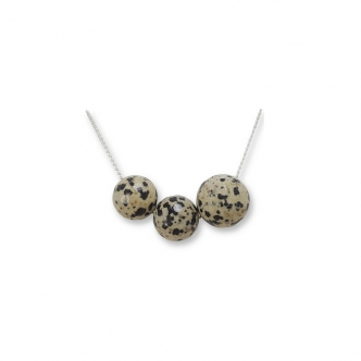 Dalmatian Gemstone Sterling Silver 925 Necklace