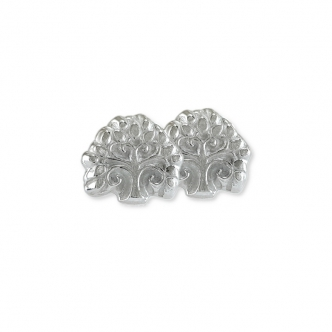 Earrings Studs Tree Nature Sterling Silver 925 950 Handmade Small Solid
