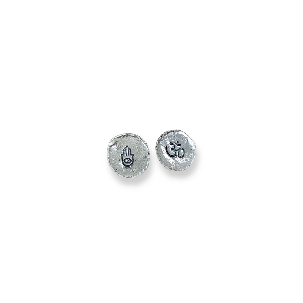 Sterling Silver Mistmatched Earrings Studs Handmade Oem Hand 925 950