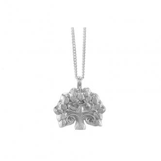 Anhänger Kette Feinsilber Silber Sterling 999 925 Baum Bäumchen Natur Handgefertigt Goldschmied Handarbeit Metal Clay