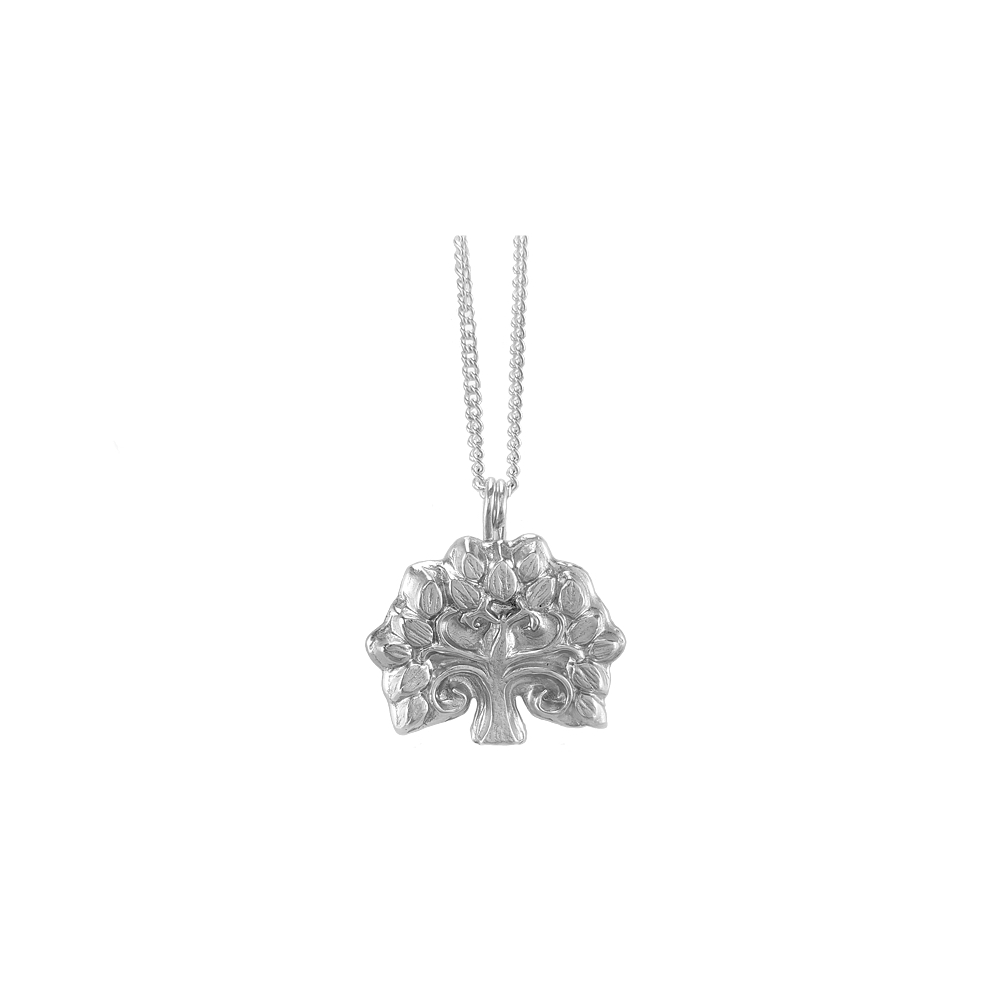 Fine Silver Sterling Pendant Tree Nature Necklace 999 925 Handmade
