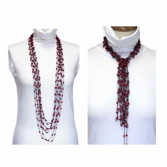 Extra Long Necklace, Mashan...