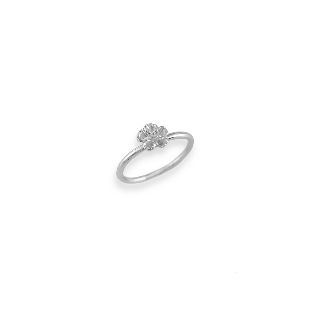 Sterling Silver Tiny Mini Small Flower Ring Handmade