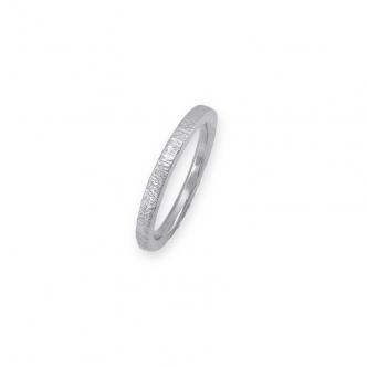 Argentium Silber Sterling 935 925 Eckiger Gehämmerter Draht Ring Handgefertigt Handgearbeitet Goldschmied
