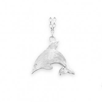 Dolphin 925 Sterling Silver Anklet Animal Handmade Metal Clay
