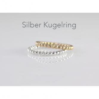 Silber Kugeldraht Ring