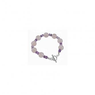 Bracelet with Rose Quartz...