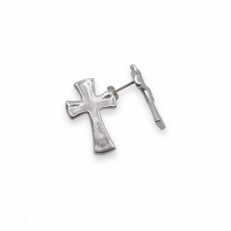 925 Sterling Silver Cross Stud Earrings Handmade