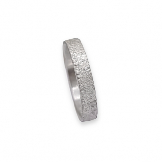 Argentium® Silver Sterling 935 925 Ring Soft Texture Handmade