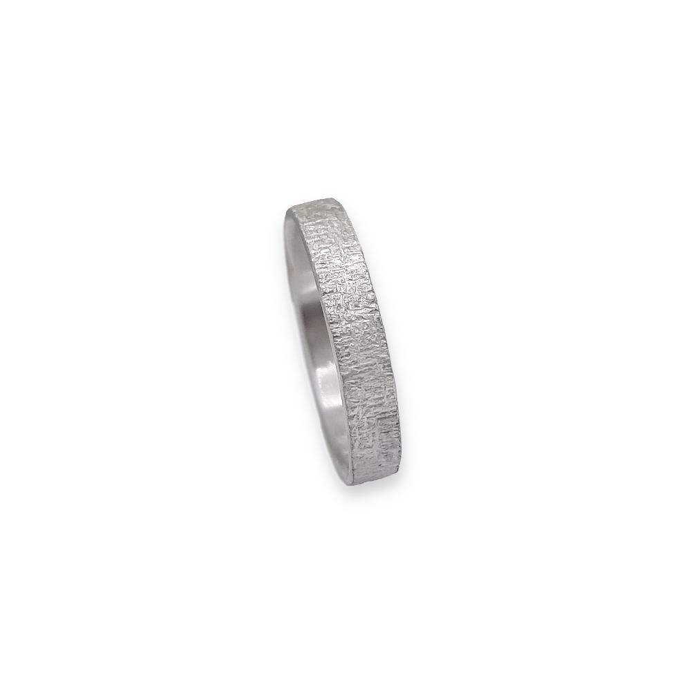 Argentium® Silber Sterling Ring 935 925 Texture Oberflächenstruktur Handgefertigt Handgemacht