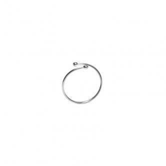 Fine Silver Ring Open Drops Handmade Delicate