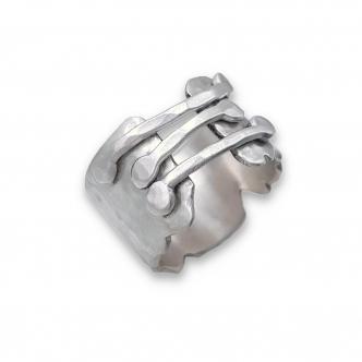 Argentium® Silber 935 925 Sterling Silber Ring Breiter Ring Handgefertigt Handgearbeitet Gehämmert