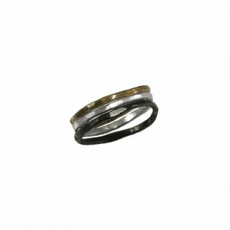 Ringset Sterling Silber 925 Oxidiert Handgefertigt Geschmiedet