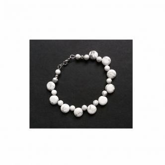 Armband Howlith Weiß Grau
