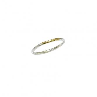 Handgemachter Silber und Gold Ring