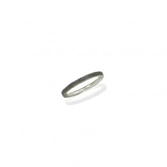 Silver Ring Oxidised Flat
