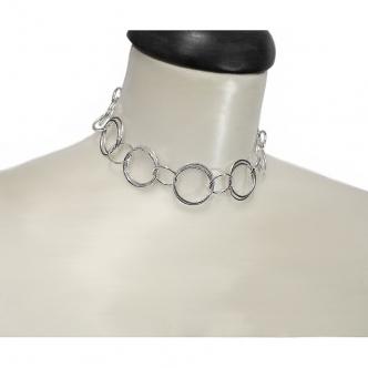 Sterling Silber 935 925 Ringe Kurze Kette Kropfkette Handgefertigt Geschmiedet Goldschmiede