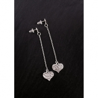Feinsilber Sterling Silber Ohrringe Herz Handgefertigt Valentinstag