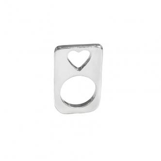 Feinsilber Silber Ring Herz Handgearbeitet Geschmiedet