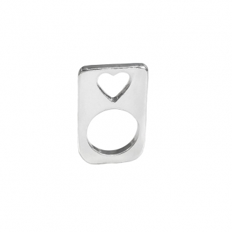Fine Silver 999 Heart Ring Handmade