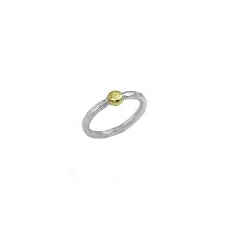 Handgefertigter Silber und Gold Ring