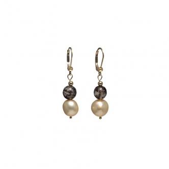 Pearls and Smoky Quartz...