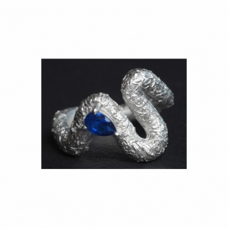 Designer Handgefertigter Echt Silber Ring
