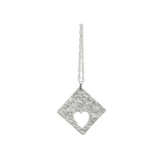 Fine Sterling Silver Heart Pendant Handmade Valentine 999 925