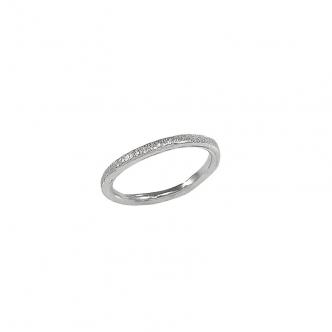 Gehämmerter Silber Ring Handgemacht