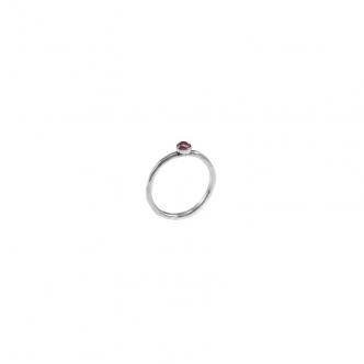 Handgefertigt Silber Ring mit Saphir