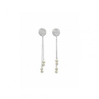 Perlen und Silber, Ohrringe, Handgefertigt