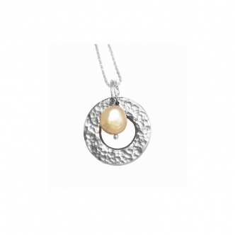 Handmade Real Silver Pendant with Pearl